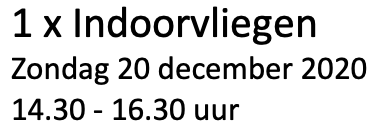 1 x Indoorvliegen 20 december 2020