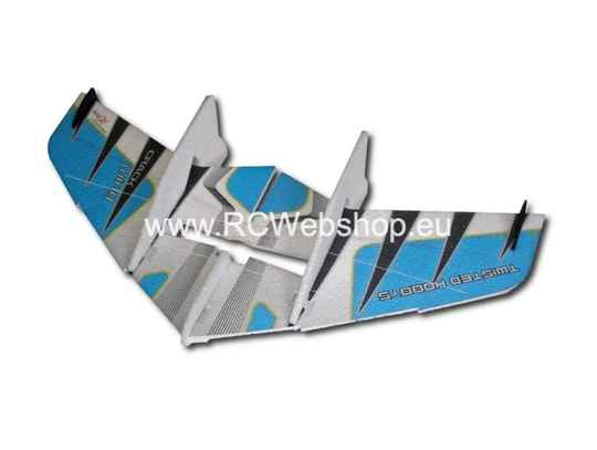 RC Factory Crack Wing F02 Blue 750mm span EPP kit *