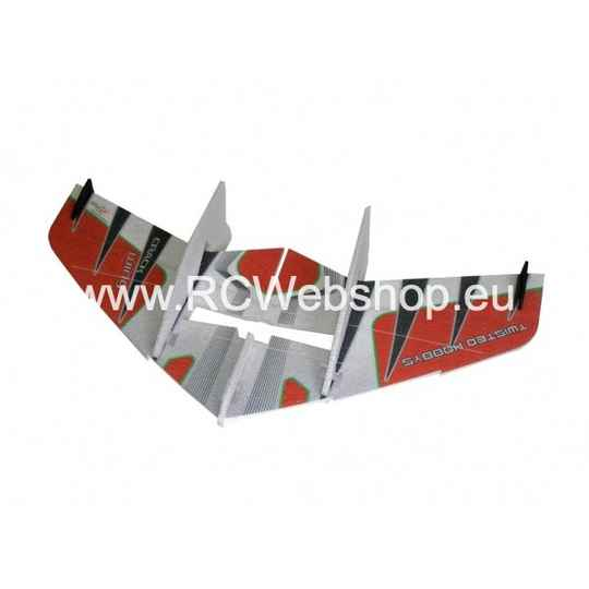 RC-Factory Crack Wing F03 Red 750mm span EPP kit *