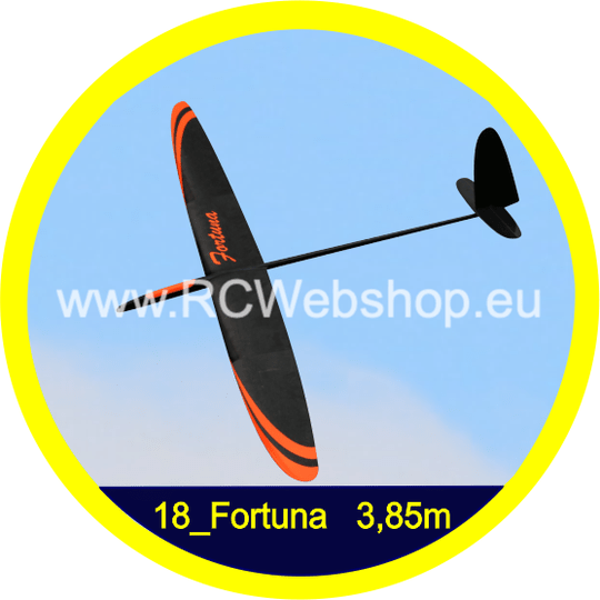 Valenta #18 Fortuna 3.850mm Span Sports Glider F5J Carbon Spread *
