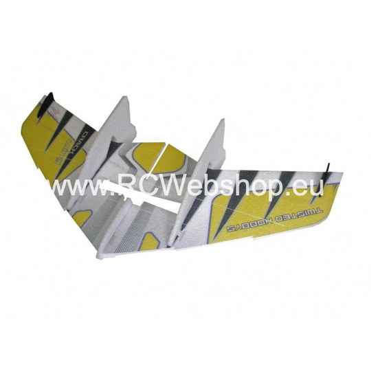RC Factory Crack Wing F04 Yellow 750mm span EPP kit **