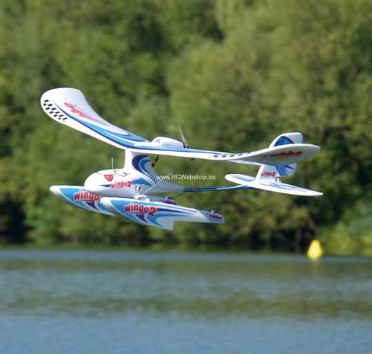"Robbe Beginner WINGO 2 Waterplane KIT ""YOU CAN FLY"" +BL motor+ESC+SERVOS 1.100mm Span #2656+floats **"