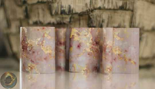Folie marble pink/gold