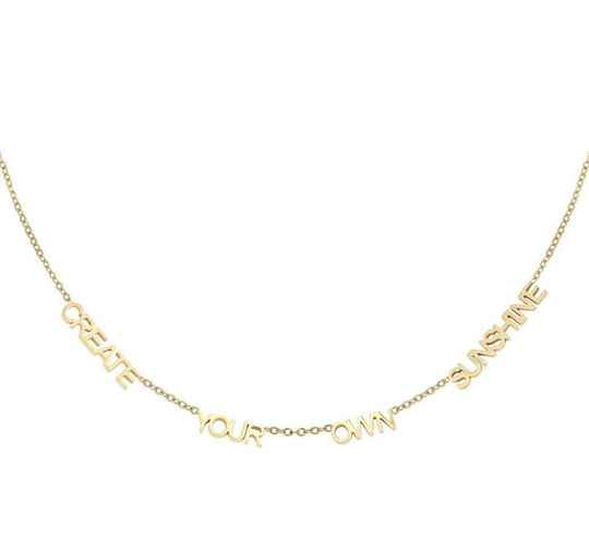 Ketting create your own sunshine goud