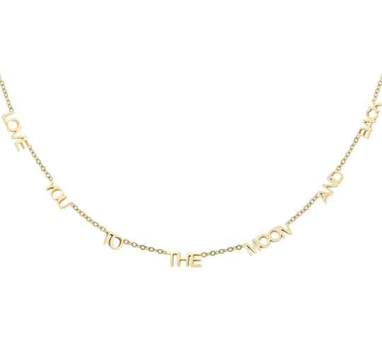Ketting love you to the moon and back goud