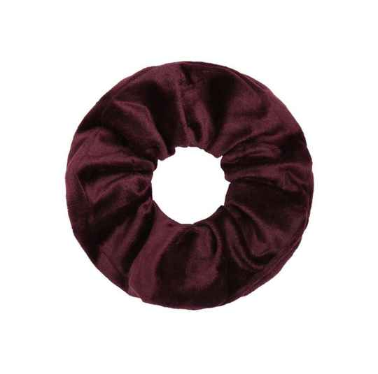 Scrunchie fluweel bordeaux rood