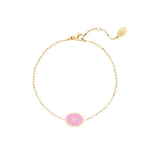 Armband lollipop roze