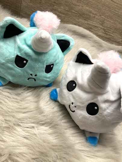 Mood knuffel unicorn mint/wit