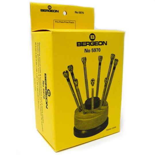 Bergeon 5970 Screwdrivers with Stand (set of 9)