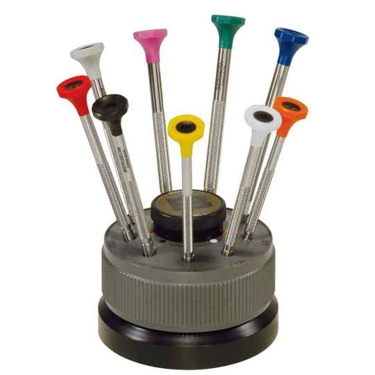 Bergeon 30081-S09 Screwdrivers with Stand (set of 9)