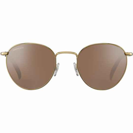 Serengeti Hamel Shiny Bold Gold Polarized Drivers