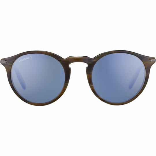 Serengeti Raffaele Shiny Wood Grain Polarized Blue 8835