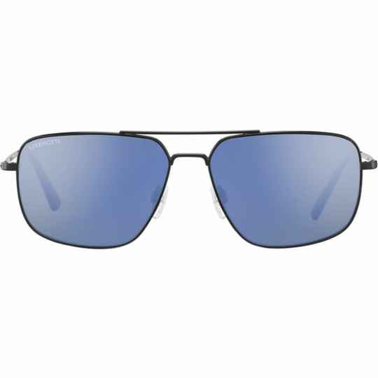 Serengeti Agostino Matte Black Blue Polarized 8828