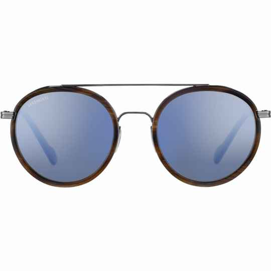 Serengeti Geary Shiny Gunmetal Brown Buffalo Polarized Blue SS526002