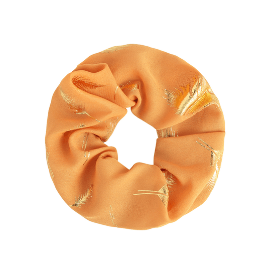 Scrunchie Golden Feather Oranje