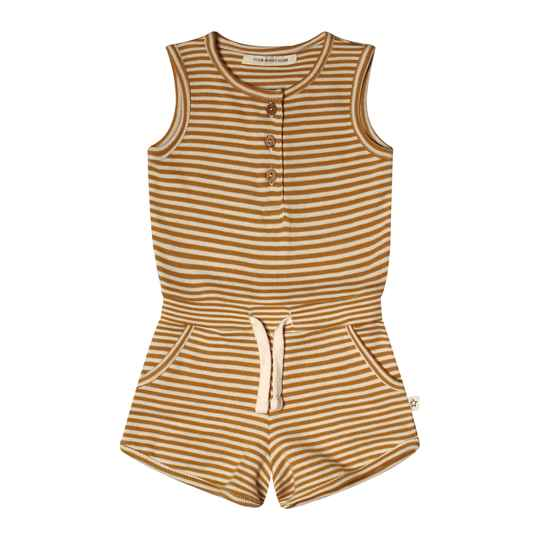 GOLD STRIPES - RACERBACK JUMPSUIT
