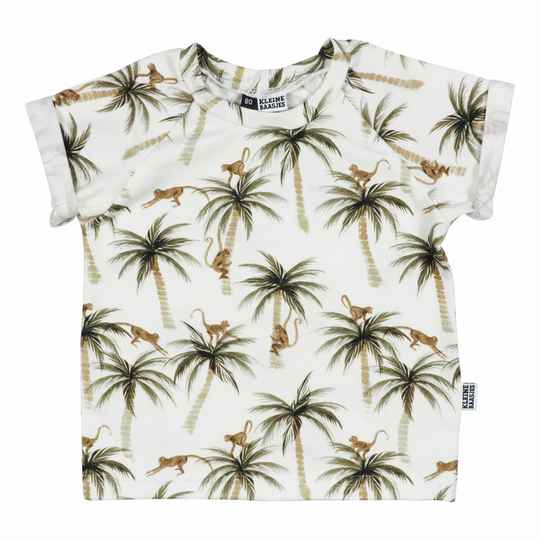 RAGLAN SHIRT - PALMS AND MONKEYS