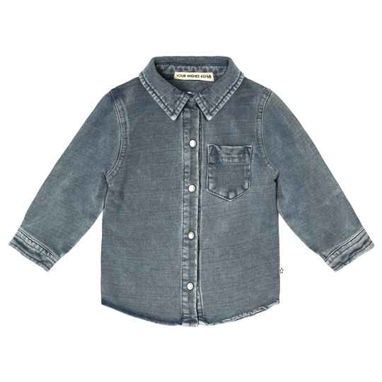 KNITTED DENIM - SHIRT