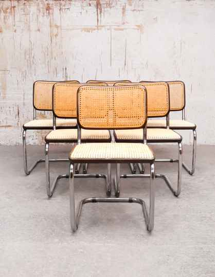 Set of 6 'B32' by Marcel Breuer for Thonet