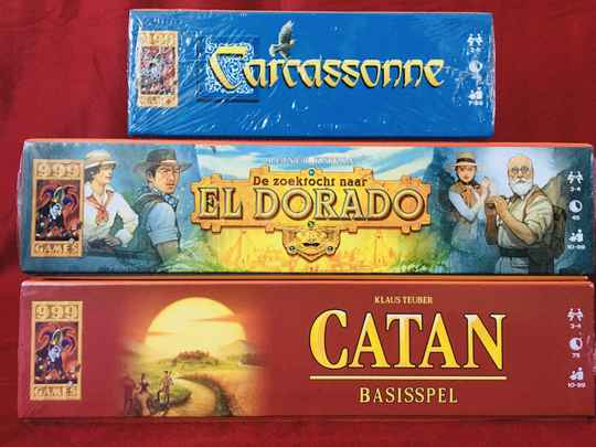 Catan Basis + zoektocht naar El Dorado + Carcassonne basis
