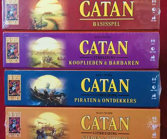 Catan basis + Piraten + Kooplieden + Steden&Ridders