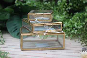 Glass Box Brass - 3 maten