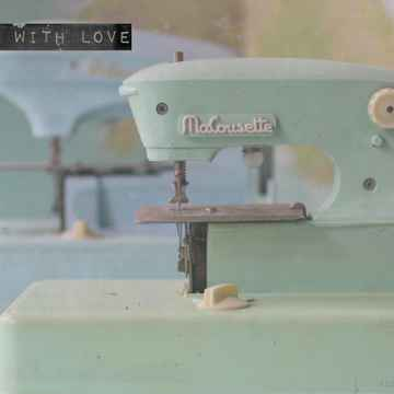 """With Love Postcard """"Sewing Machine"""""""