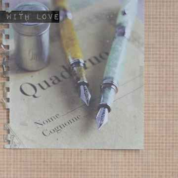 """With Love Postcard """"Fountain Pens"""""""