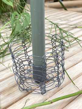 Candle Holder Metal Grey Small