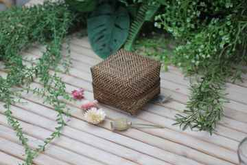 Basket Boho Brown