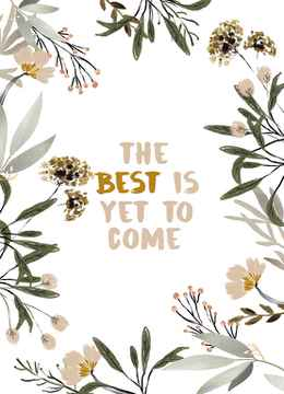 """Postcard """"The Best Is Yet To Come"""