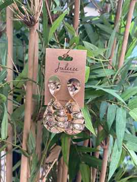 Juleeze Earings Gold Round With Twist