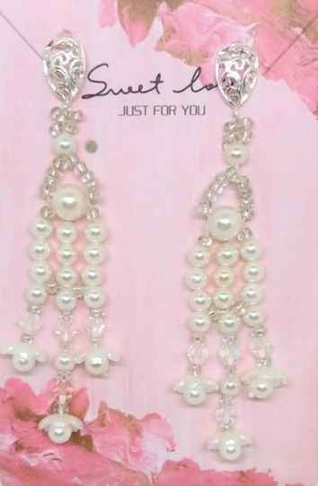 Bridal earrings with pearls OB06
