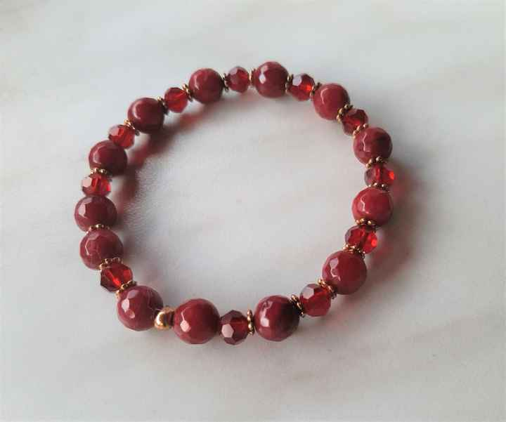 Dames armband rood ARCH01