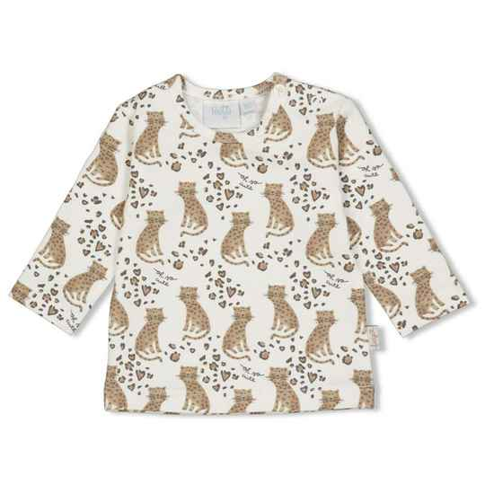 Feetje Shirt Panther Cutie -  Off White/ Aop