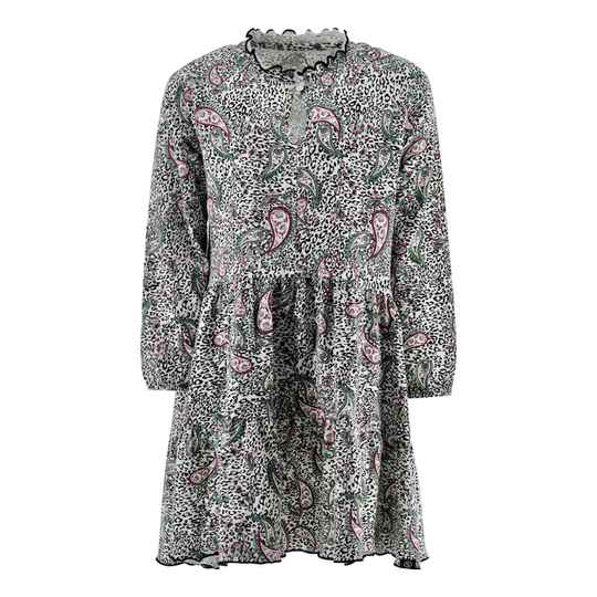 Kiddo Dress Angel - Off White/Paisley