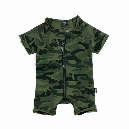 KMDB Playsuit - Camo Green