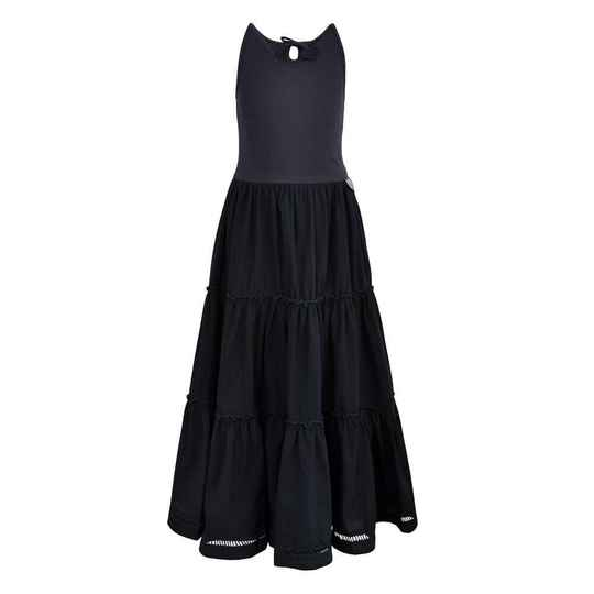LoFff Tiered Maxi Dress - Dark Blue