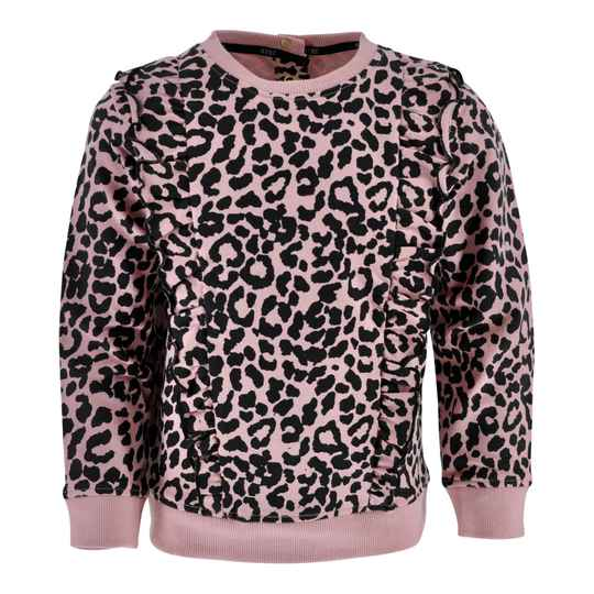 Born to be Famous Sweater Irene - Soft Pink Aop Leopard