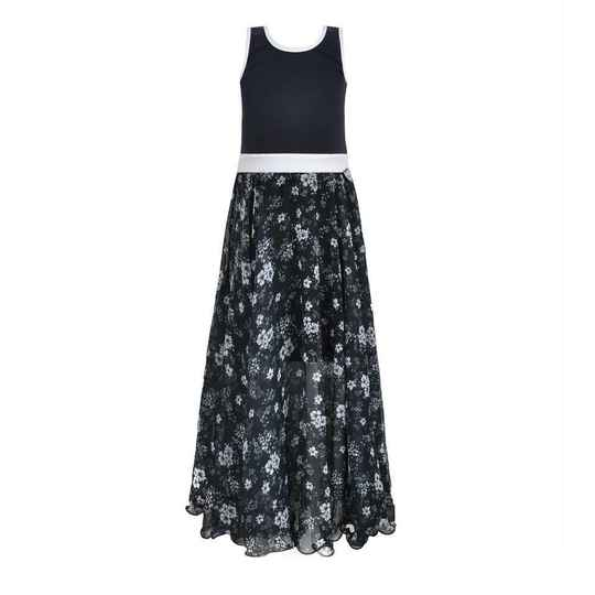 LoFff Maxi Dress - Blue Flower