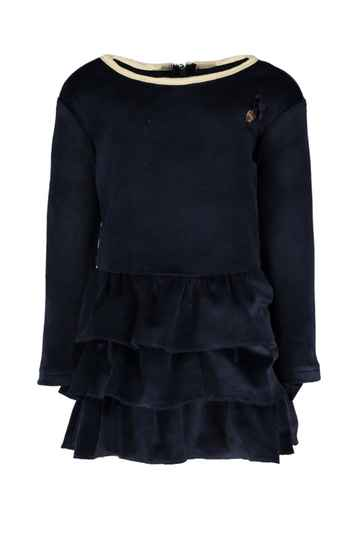Le Chic Baby Dress Velour - Navy
