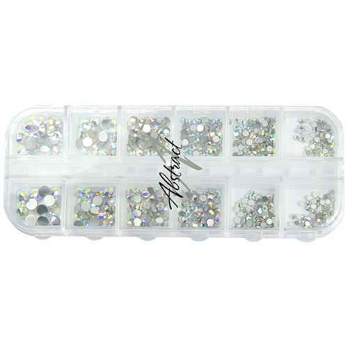Luxe Tray Rhinestones Silver AB | Abstract