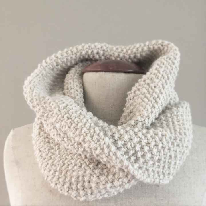 Moss Stitch Snood Knit Kit