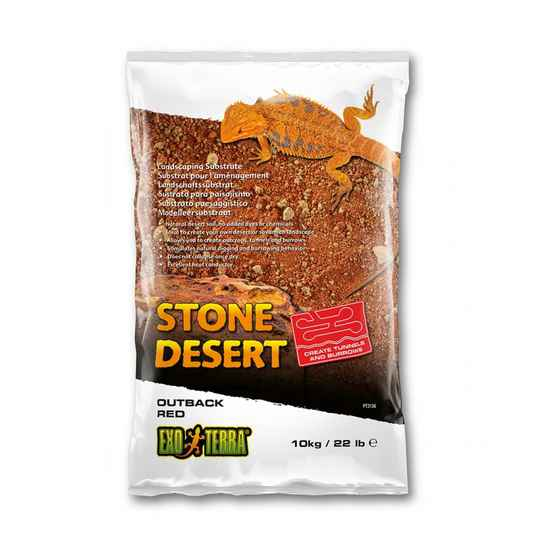 Stone desert substraat outback red rood 10kg