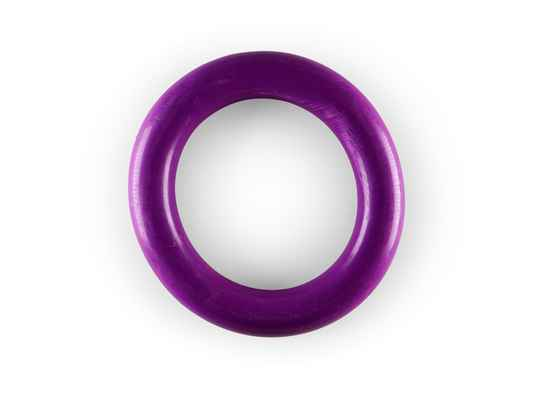 Speelgoed hond rubber ring paars 15cm