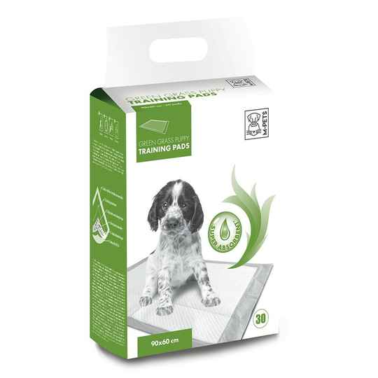 M-PETS training pads green grass puppy 90x60cm 30st.