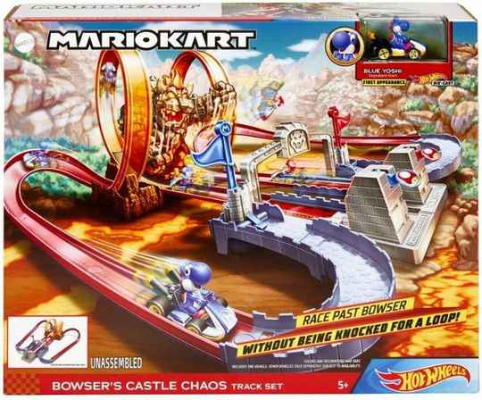 Hot Wheels Mario Kart Bowser's Castle Track set