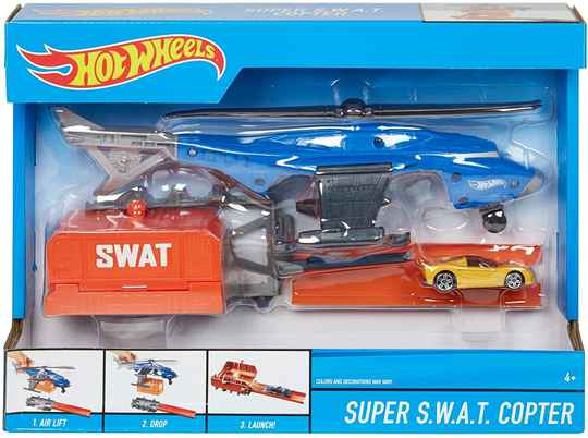 Hot Wheels Launch Into Action - Super S.W.A.T. Copter