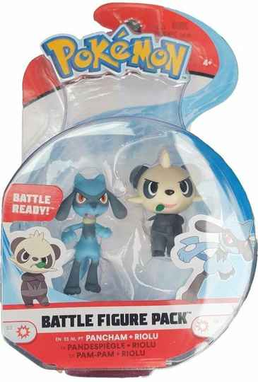Pokemon Battle Figure - Pancham & Riolu