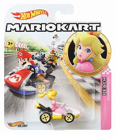 Hot Wheels Mario Kart Replica Die-Cast - Peach